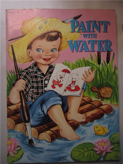 Vintage Paint With Water Coloring Book Whitman Vivian Robbins (used)